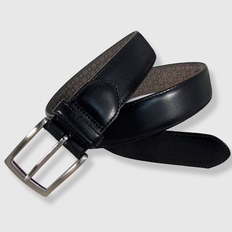 Leyva - Black Leather Belt