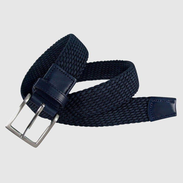 Leyva - Navy Elasticated Belt