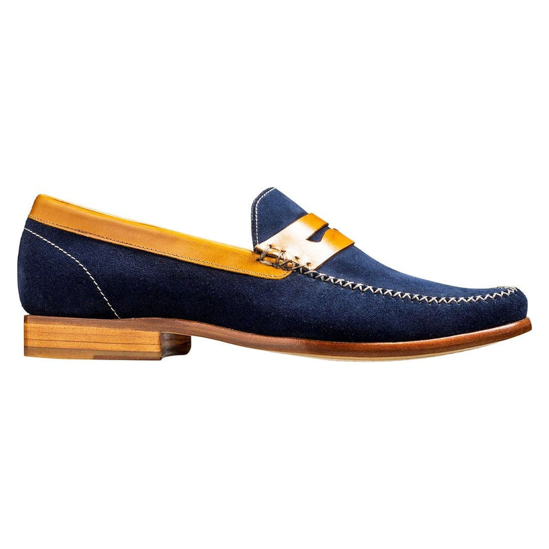 Barkers - William - Navy Suede / Cedar Calf