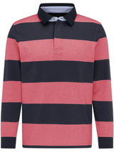 Fynch Hatton - Casual Fit Block Stripe Rugby Shirt