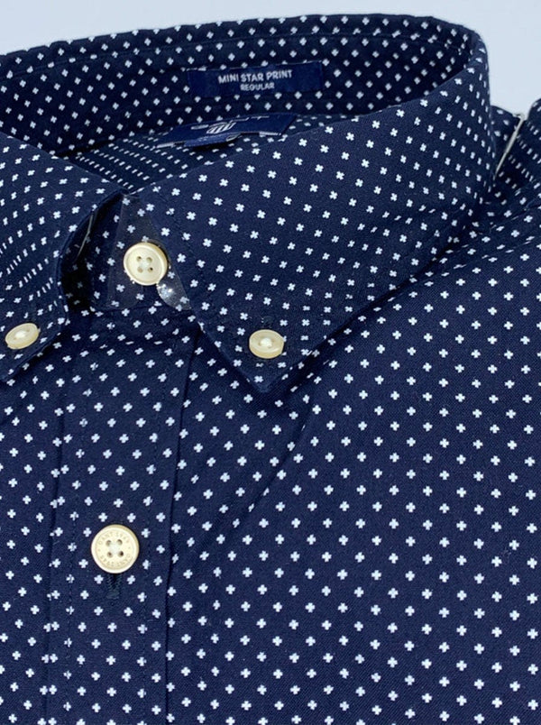 GANT - Mini Star Print Shirt - Classic Blue