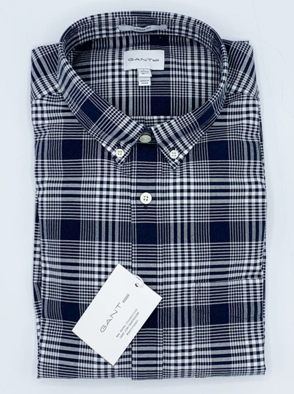 GANT - Heavy Oxford Check Shirt - Evening Blue