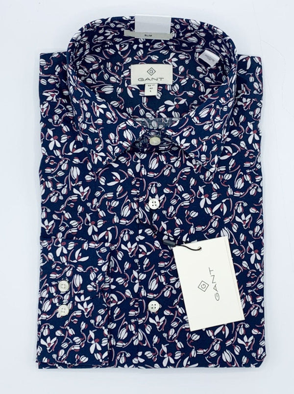 GANT - Alpine Flower Hero Print Slim Fit Shirt - Marine