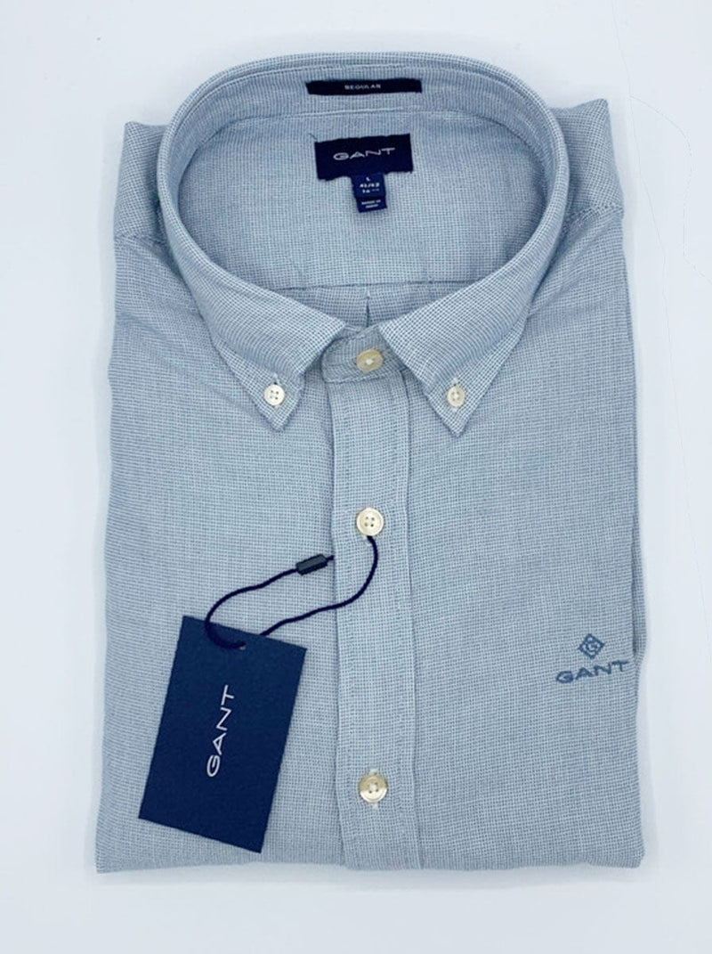 GANT - Basket Weave fil'a'fill Shirt - Atlantic Blue