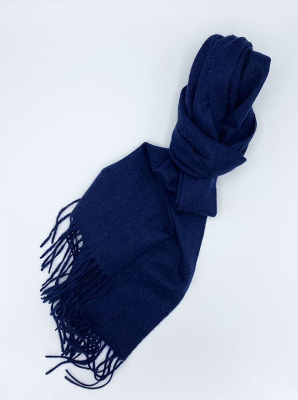 Ascot - Cashmere Scarf - Navy