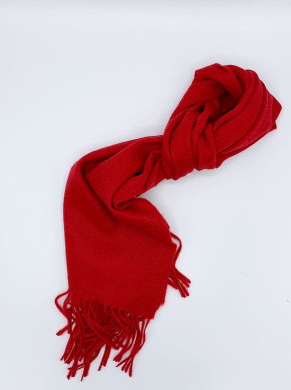 Ascot - Cashmere Scarf - Red