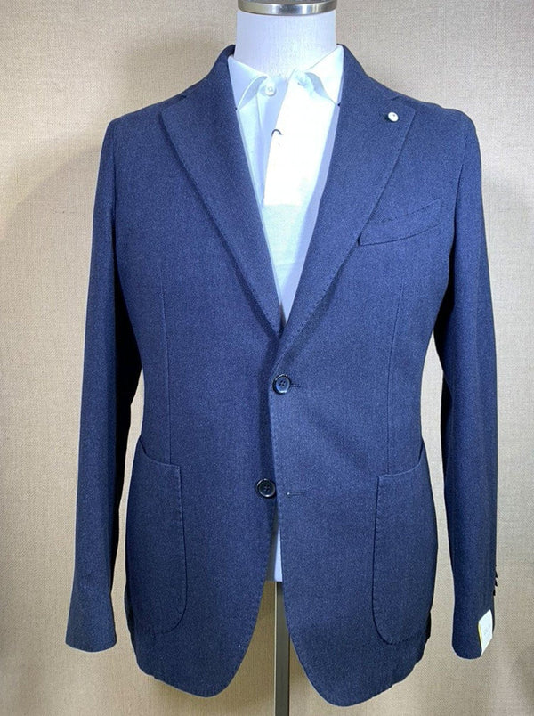 Lubiam - Cotton Unstructured Herringbone Jacket