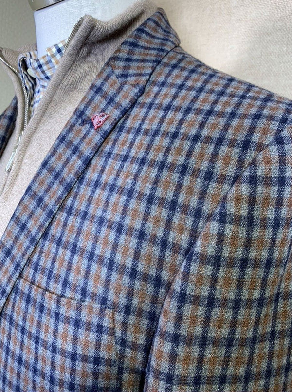 Roy Robson - Slim Fit Wool Mix Check Jacket