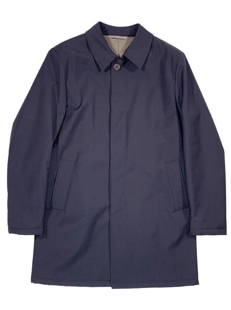 Canali - Rain & Wind Tech Wool Raincoat - Navy