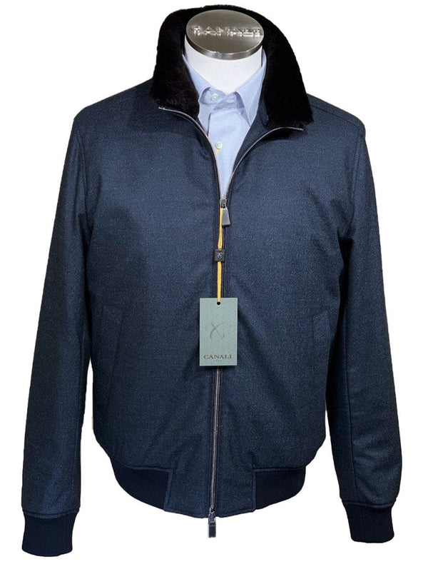 Canali - Rain & Wind Tech Wool Bomber Jacket