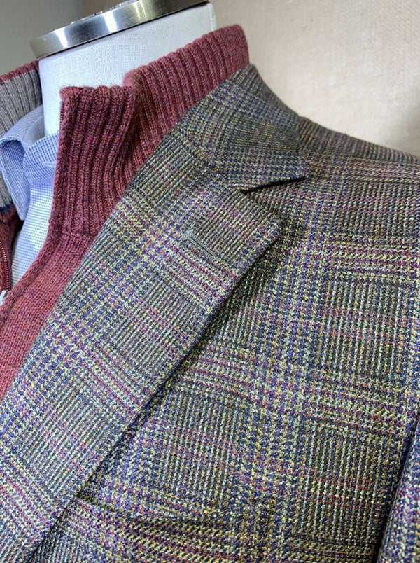 Canali - Wool/Silk Glen Multi Check Jacket