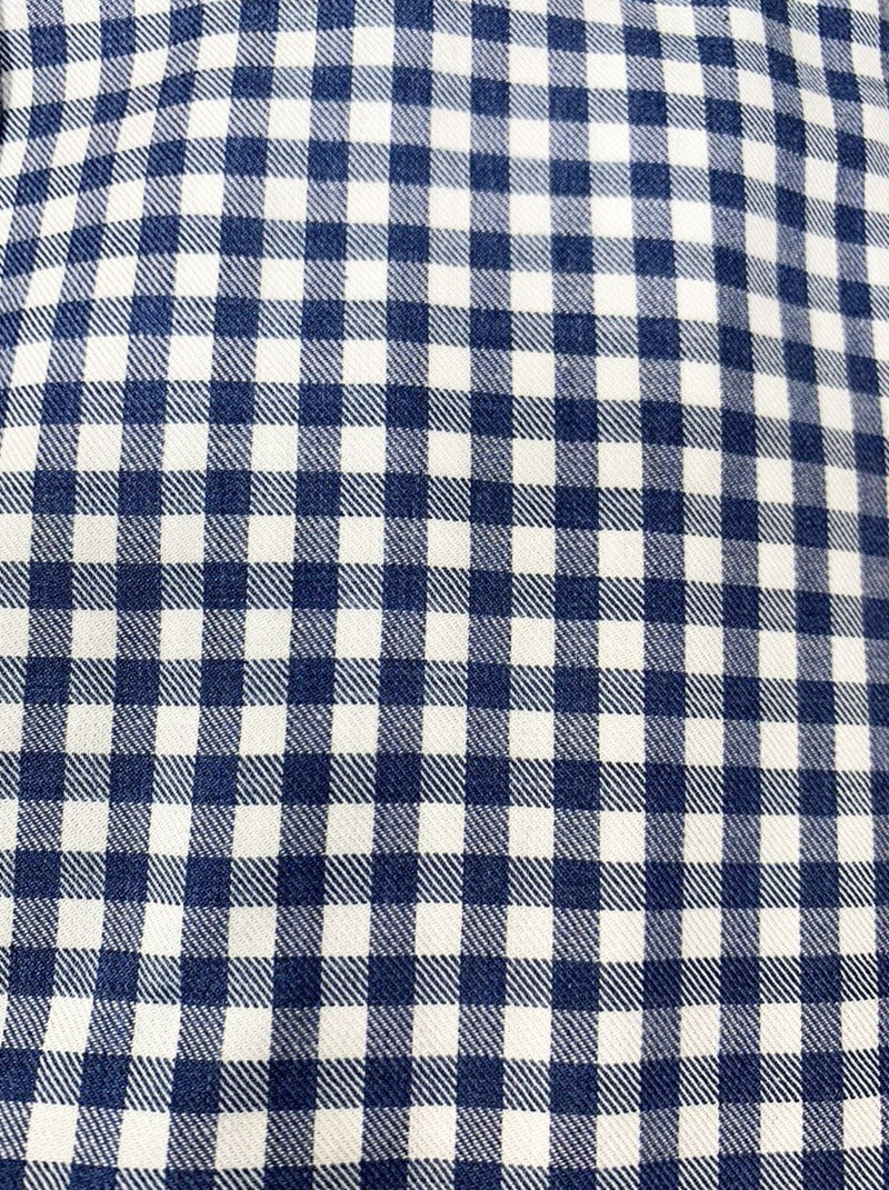 Canali - Cotton Blend Gingham Check Shirt