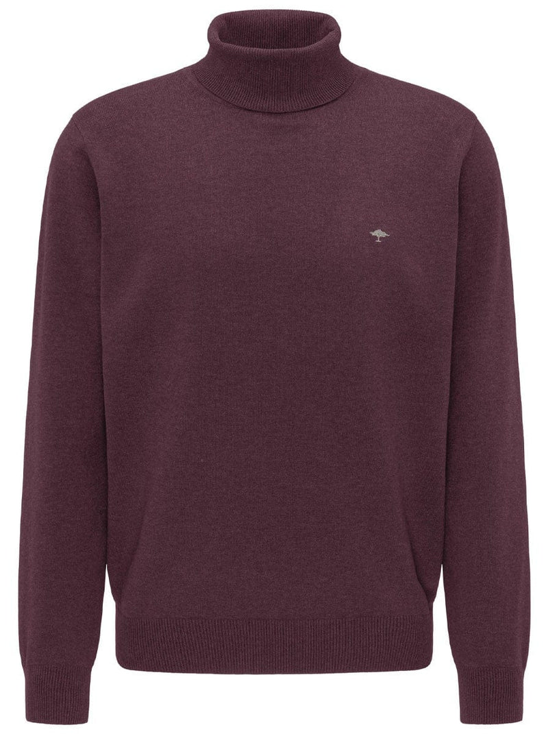 Fynch Hatton - Roll Neck Jumper - Colour Merlot