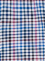 Fynch Hatton - Super Soft Multi Check Casual Shirt - Colour Pink/Navy/Blue