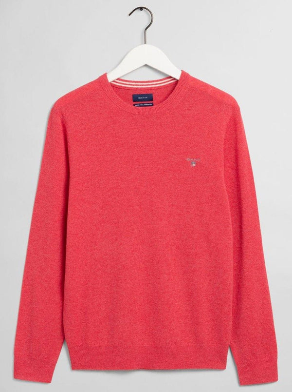GANT Crew Neck Lightweight Lambswool jumper - Colour Rapture Rose Melange