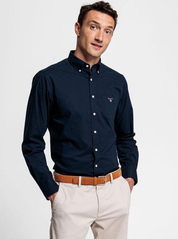 GANT Broadcloth Shirt - Evening Blue