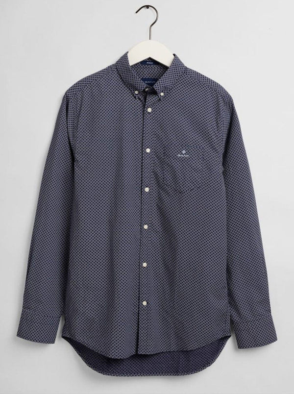 GANT Micro Dot Weave Print Shirt - Persian Blue