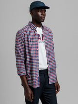 GANT Tech Prep™ Micro Tartan Twill Shirt - Colour Bright Red