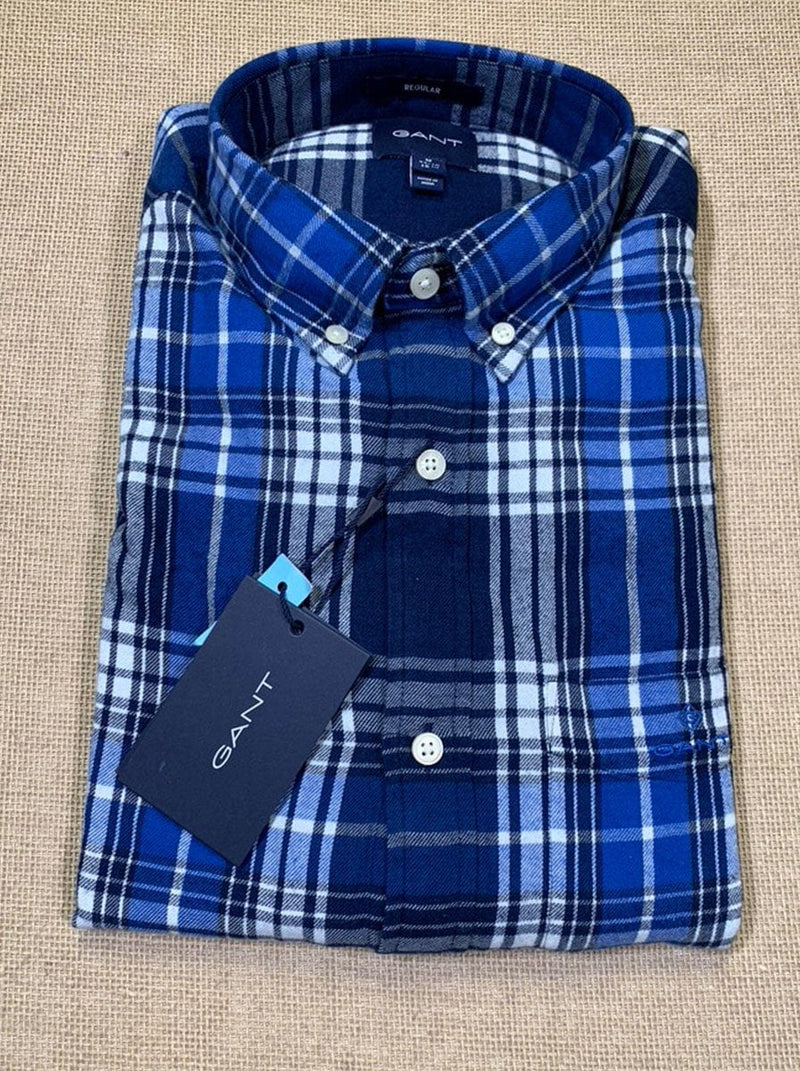 GANT Windblown Flannel Shirt - Strong Blue