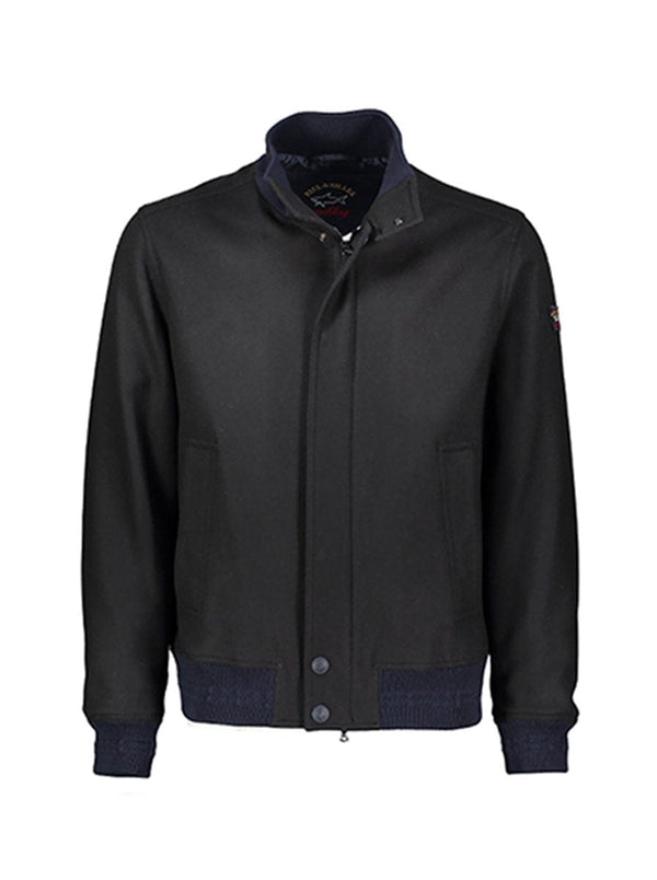 Paul & Shark Iconic Wool Bomber - Colour Navy