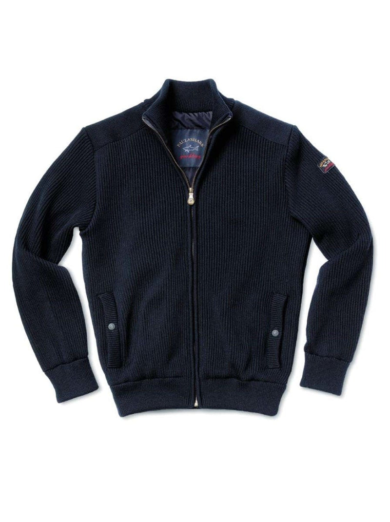 Paul & Shark Pure Wool English Ribbed Jacket - Colour Navy