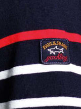 Paul & Shark Four Season Merino Wool Stripped Jumper - Colour Navy