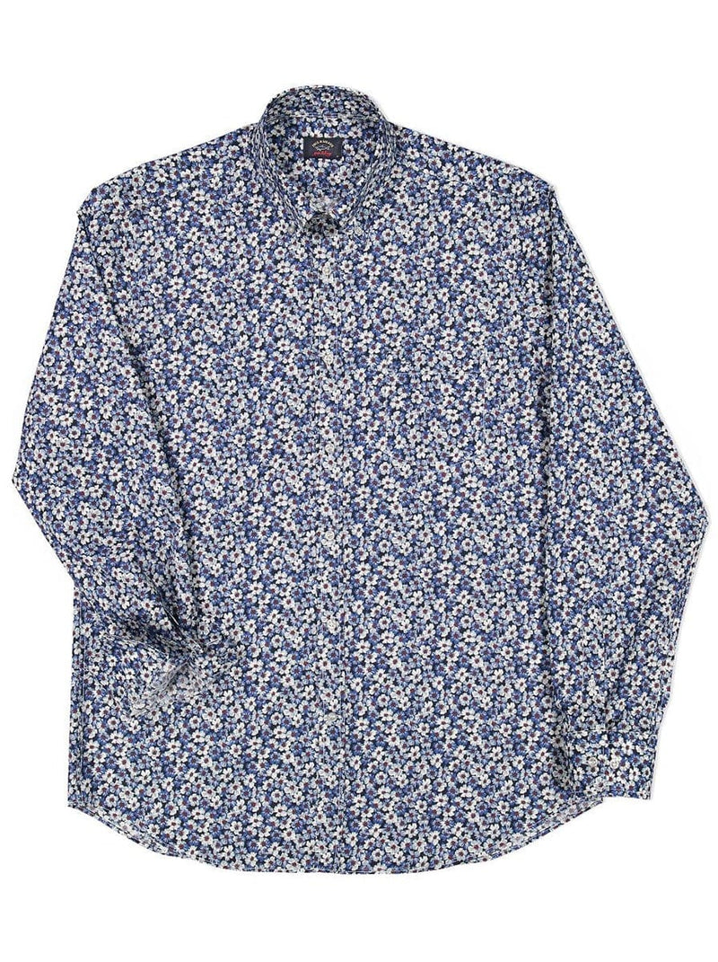 Paul & Shark Floral Shirt - Colour Blue