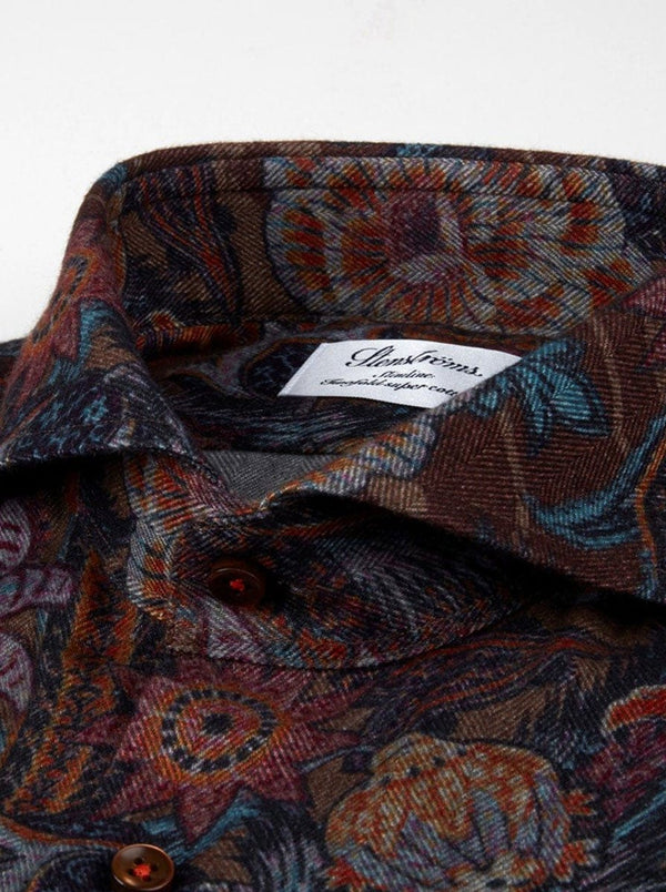 Sterströms - Patterned Flannel Fitted Body Shirt - Colour Multi