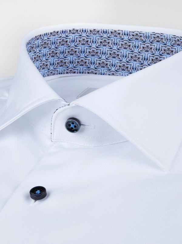 Sterströms - Fitted Body Shirt With Contrast Trim - Colour White
