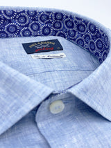 Paul & Shark Linen Shirt - Colour Sky Blue