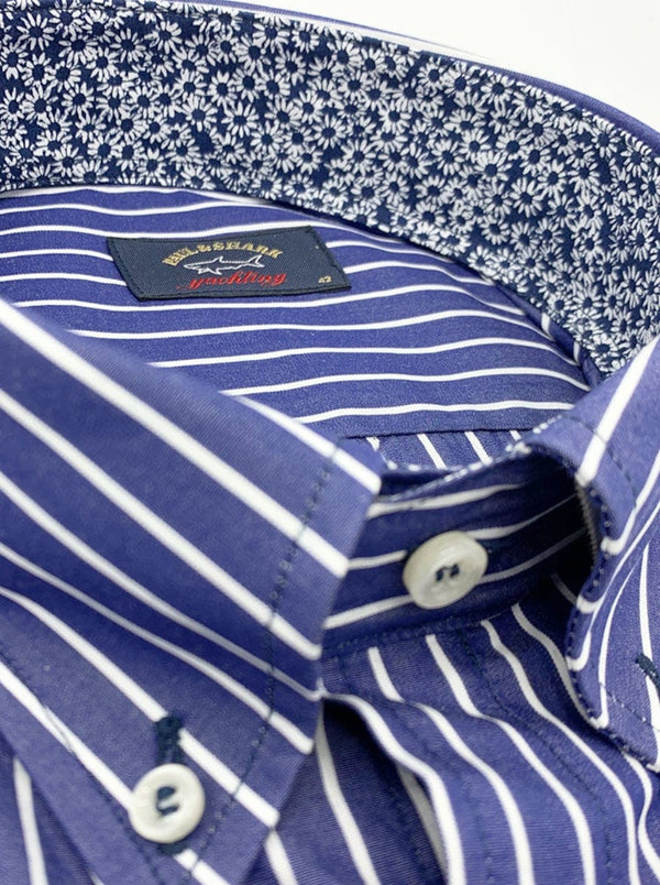 Paul & Shark Stripe Shirt - Colour Blue