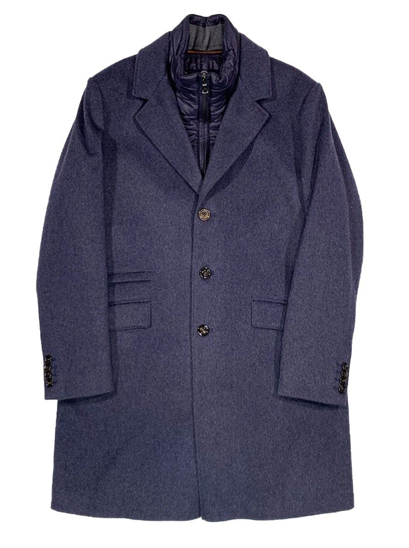 Schneiders - Wool Mix Overcoat - Denim