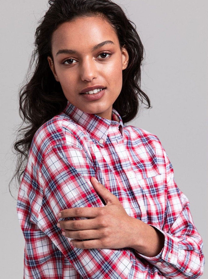 Gant - Relaxed Red Flannel Check Shirt