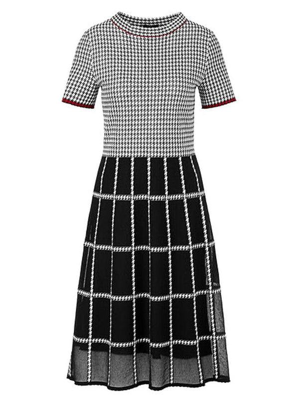 Marc-Cain - Puppy Tooth and Window Check Dress