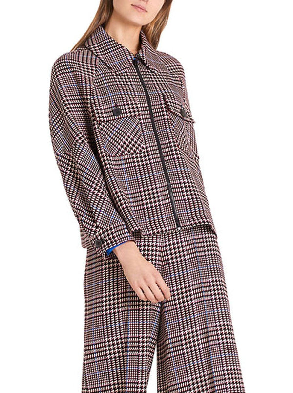 Marc-Cain - Shirt Style Checked Jacket