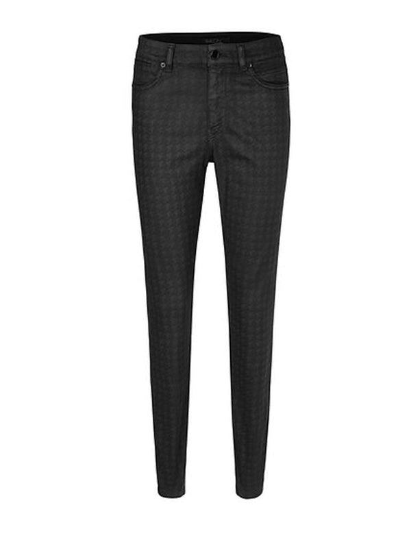 Marc-Cain - Leather Finish houndstooth Jeans
