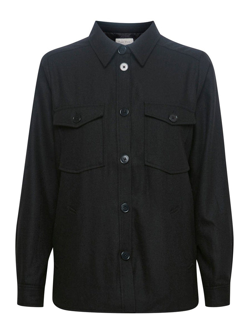 Part Two - Shirt Style Jacket - Colour Black