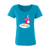 Snacks N Tea Sheer Scoop Neck