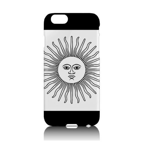 Star Showroom iPhone phone case. White Argentina Flag Design - $32.50