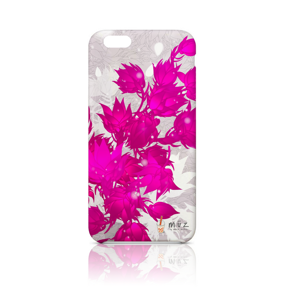 Star Showroom iPhone phone case. Fuchsia Floral Design - $32.50