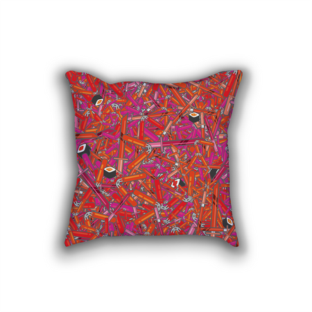 Damask Pattern Pillow Cushion
