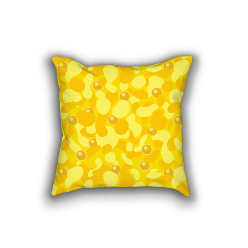 m ū z Camo Throw Pillow
