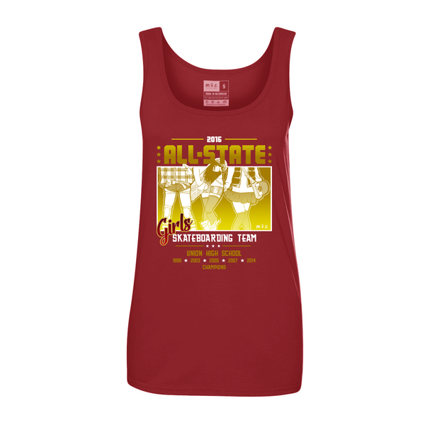 Girls Skateboarding Team Tank