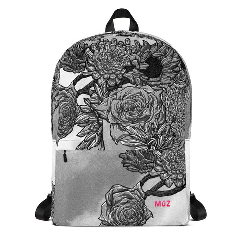 Sharpie Flowers Halftones Backpack