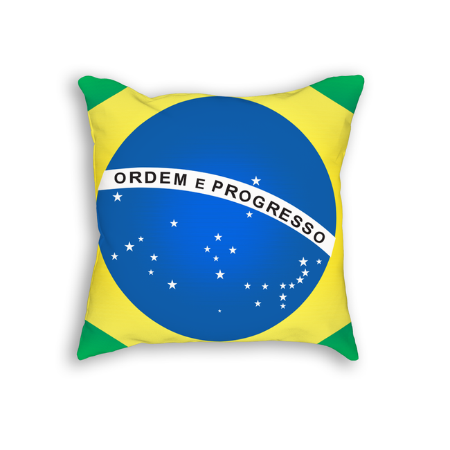 Brazil Flag Pillow Cushion