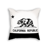 California Flag Throw Pillow