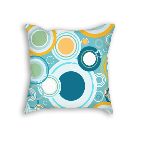 Circle Pattern Throw Pillow Cushion