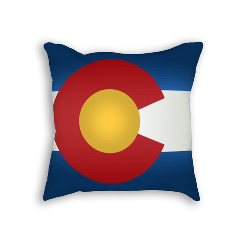 Colorado Flag Throw Pillow