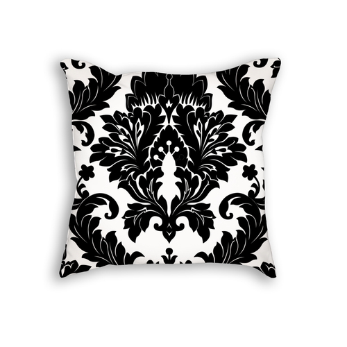 Damask Pattern Throw Pillow