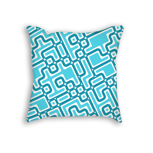 Maze Pattern Throw Pillow
